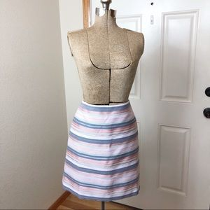 NWT Loft Striped Skirt Workwear